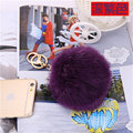 Fur Pom Pom key chain porte clef 10cm fur ball keyring key chain genuine rabbit fur ball keychain women bag charm llaveros mujer