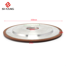 150mm Resin Diamond Grinding Wheel Grinding Disc Saw Blade 150 Grit 75% цена и фото
