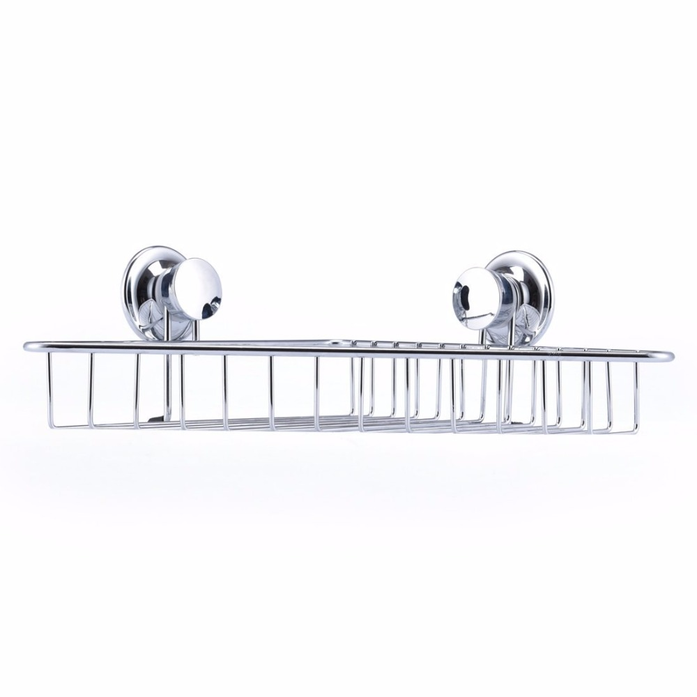 ANHO Stainless Steel Bathroom Storage Holder Powerful Suction Cup ...