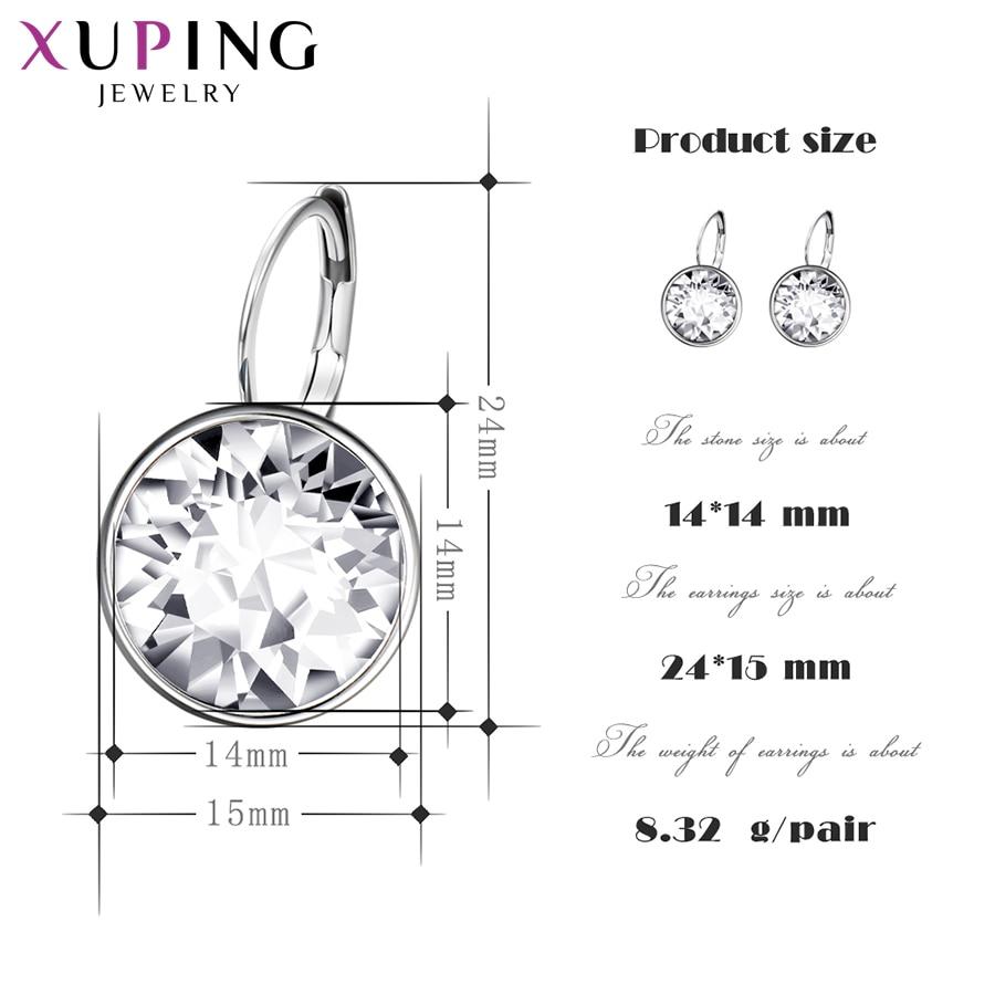 Xuping mode kristaller från Swarovski Färgglada örhängen med - Märkessmycken - Foto 2
