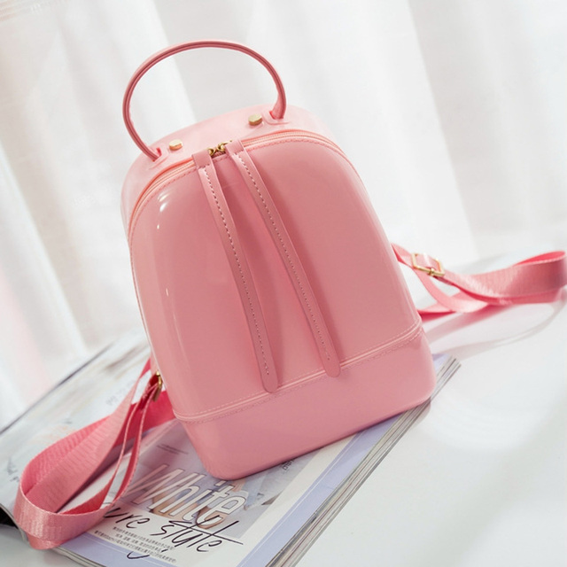 Candy Color Summer Jelly Backpacks Waterproof PVC School Bags Plastic Silicone Women Shoulder Bags Backpack