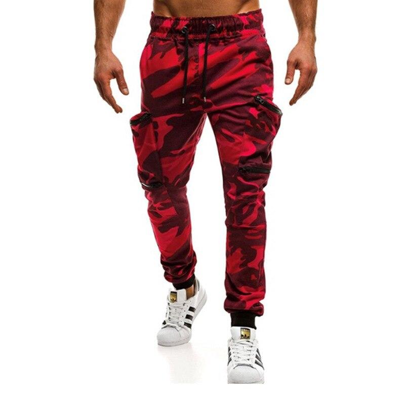 Multi Pocket Military Camouflage Pants Zipper Pencil Pants Mens Joggers Sweatpants Casual Cotton Trousers For Men Cargo Pants