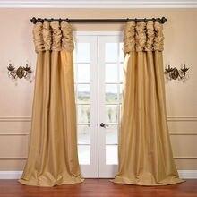 Роскошные шторы для роскошного окна комнаты, индивидуальные готовые оконные шторы/шторы для гостиной/спальни, одноцветная панель