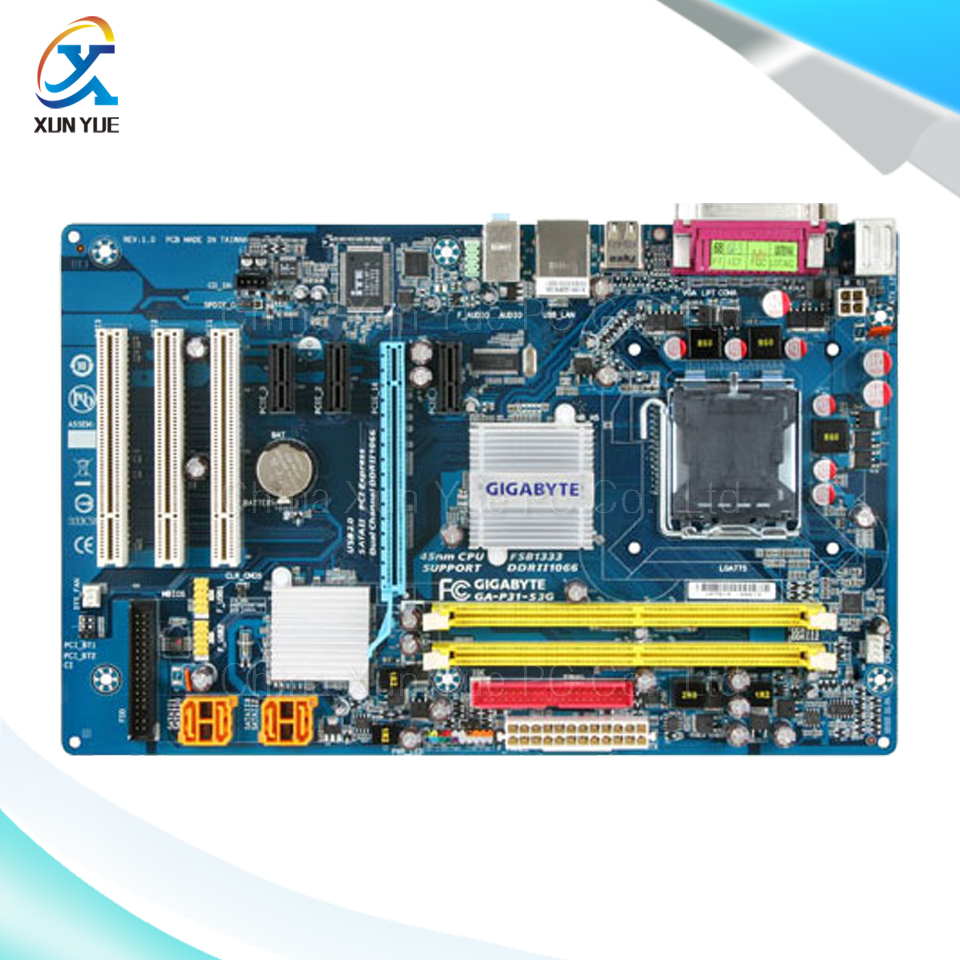 For Gigabyte GA-P31-S3G Original Used Desktop Motherboard P31-S3G For Intel P31 LGA 775 For DDR2 4G SATA2 ATX