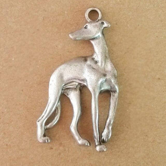 italiaanse windhond hanger sieraden maken greyhounds hond metalen