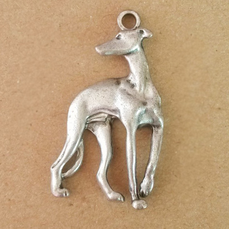 Italian Greyhound Pendant Jewelry Making Greyhounds Dog Metal Galgo Gold Charms For Necklace DIY A003
