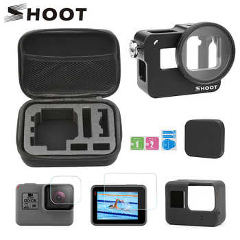 SHOOT CNC Aluminum Alloy Protective Cage Case Set for GoPro Hero 7 6 5 Black Cage for Go Pro Hero 7 6 5 Action Camera Accessory - DISCOUNT ITEM  29% OFF Consumer Electronics