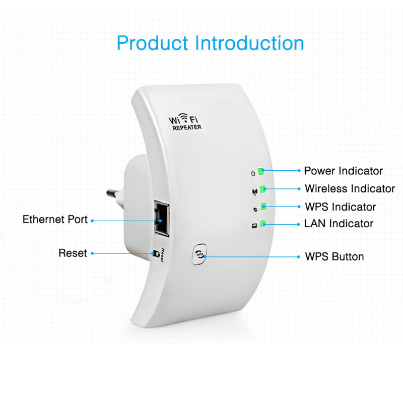 Wireless Wifi Repeater Wifi Range Extender 300Mbps Network Wi fi Amplifier Signal Booster Repetidor Wifi Access Point 2