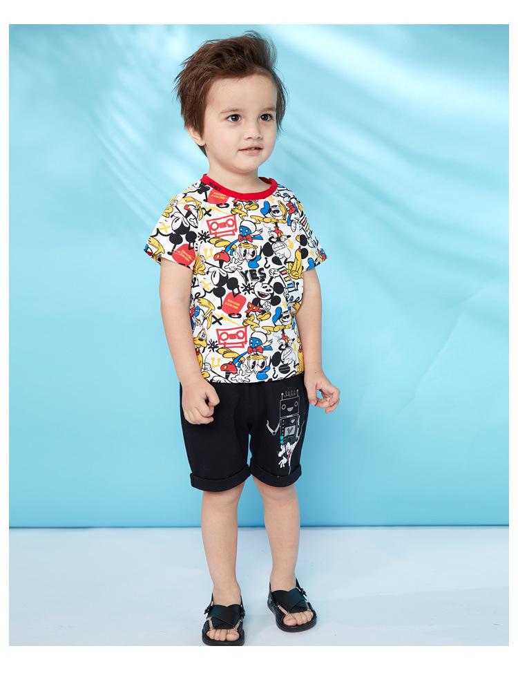 HTB1IaglKOLaK1RjSZFxq6ymPFXal - Disney children's clothes boys T-shIrt dress knitted Short-sleeve tshirt 2019 Summer Mickey fashion pure cotton camiseta t shirt