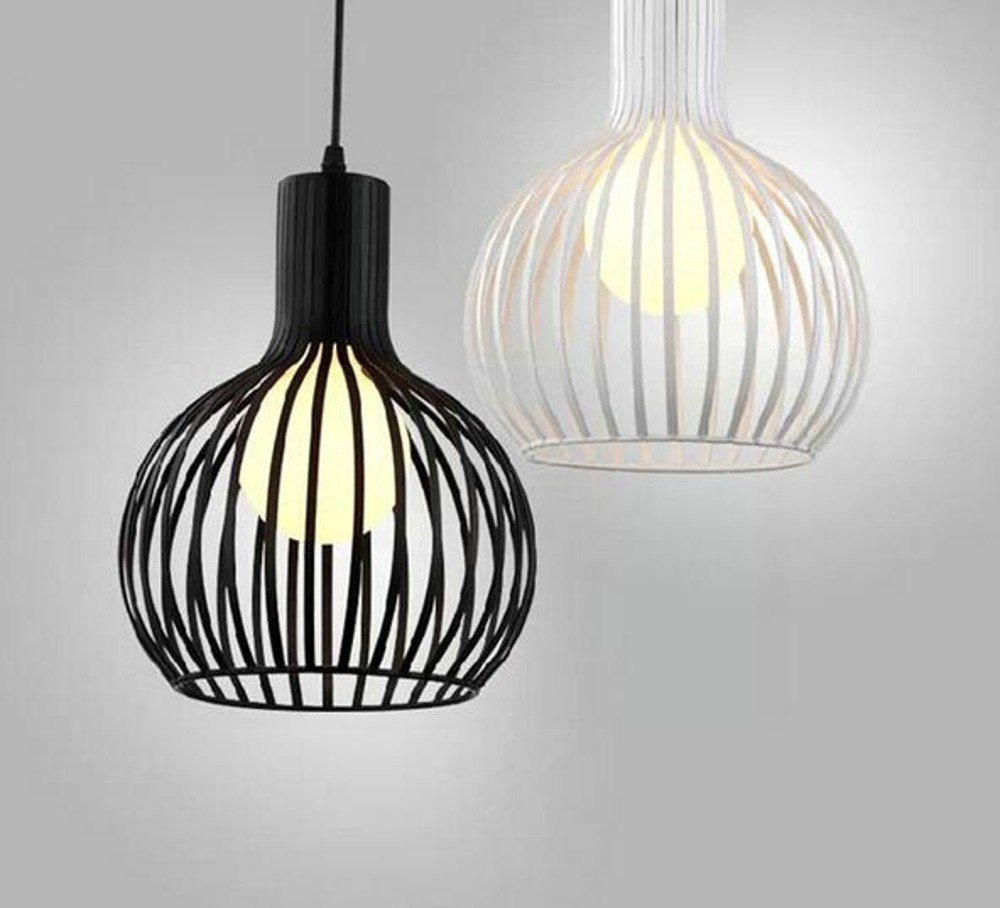 Modern Aluminum black white E 27 Pendant Lamp Foyer Lamp Dining Room Pendant Light Loft Lamp