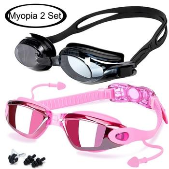 anti fog myopia diopters optical prescription swimming goggles for professional sports