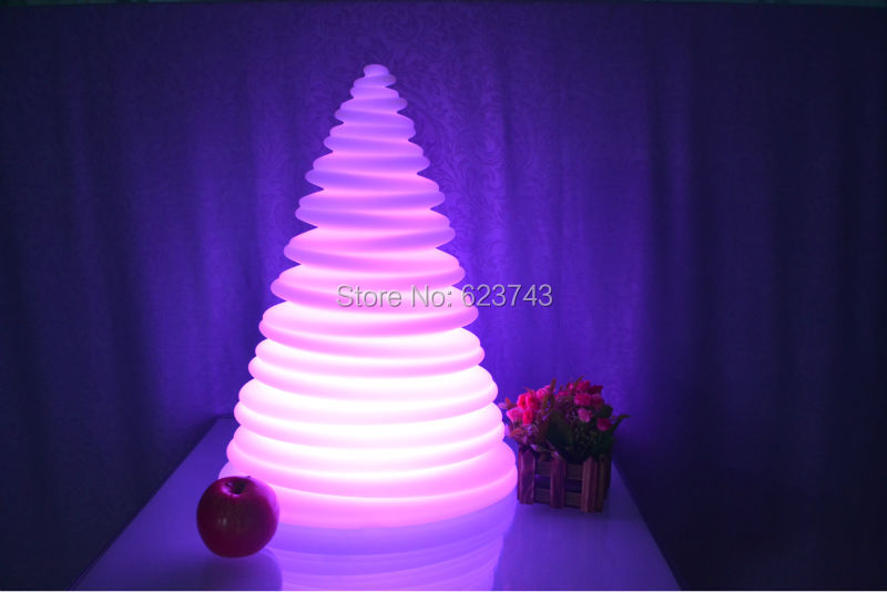 2PCS/Lot  Waterproof Multicolor LED Christmas Tree Night Light Touch Senor Rechargeable LED Tower Kids night lamp Light Gift 4pcs lot colorful touch senor waterproof led ball round bars table light rechargeable as led ice bucket led globe floating tray