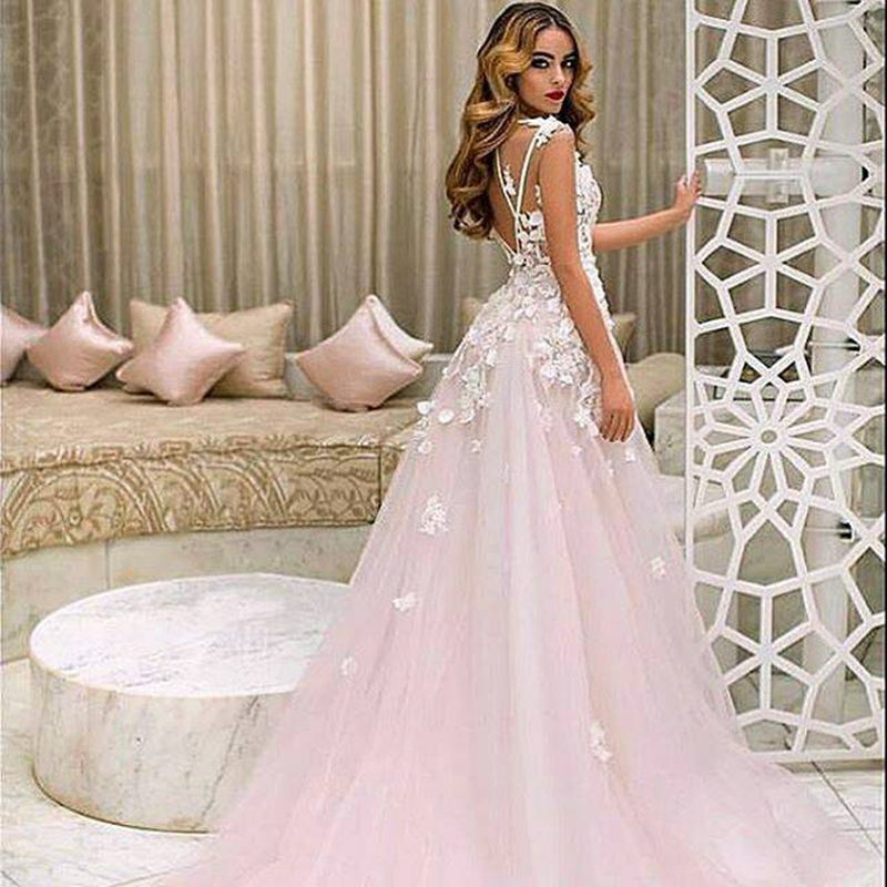 wedding dress with color popular plus size blush wedding dresses buy cheap plus 9280
