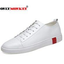 bf07a961f ONLYMONKEY/Большие размеры 36-46, Мужская прогулочная обувь из натуральной  кожи, мужские кроссовки высокого качества на шнуровке.