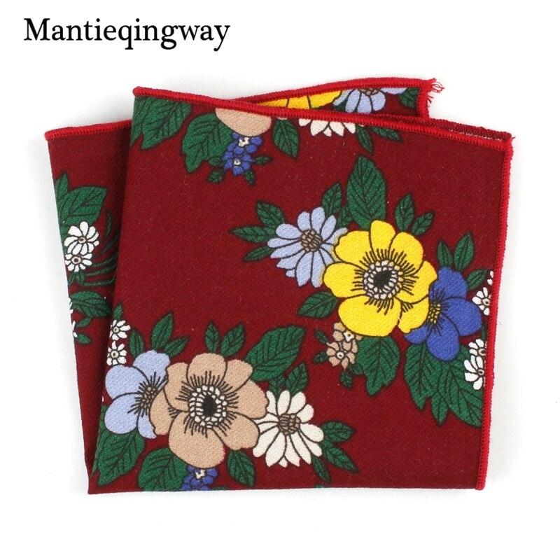 Mantieqingway Casual Cotton Handkerchiefs Hankies Mens Suits Pocket Square Brand Formal Wear Chest Towel Pocket Towel Wedding