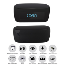 Mini Camera Clock Alarm P2P  IR Night Vision Wifi Cam IP 1080P H.264 Mini DV DVR Camera Wifi Remote Control With battery max su