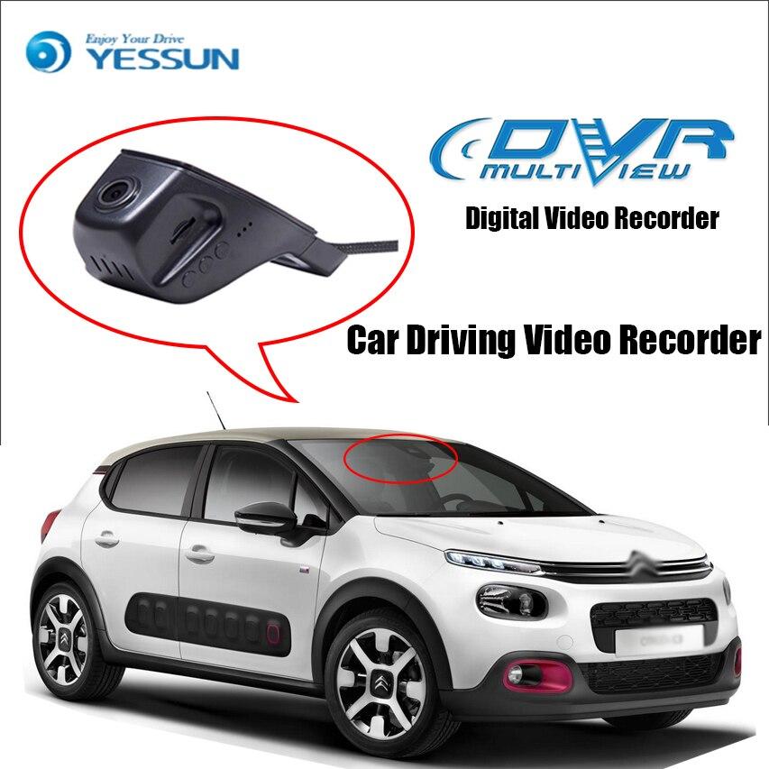 YESSUN pour citroën C3 enregistreur vidéo de conduite de voiture DVR Mini contrôle APP Wifi caméra enregistrateur Dash Cam Style Original