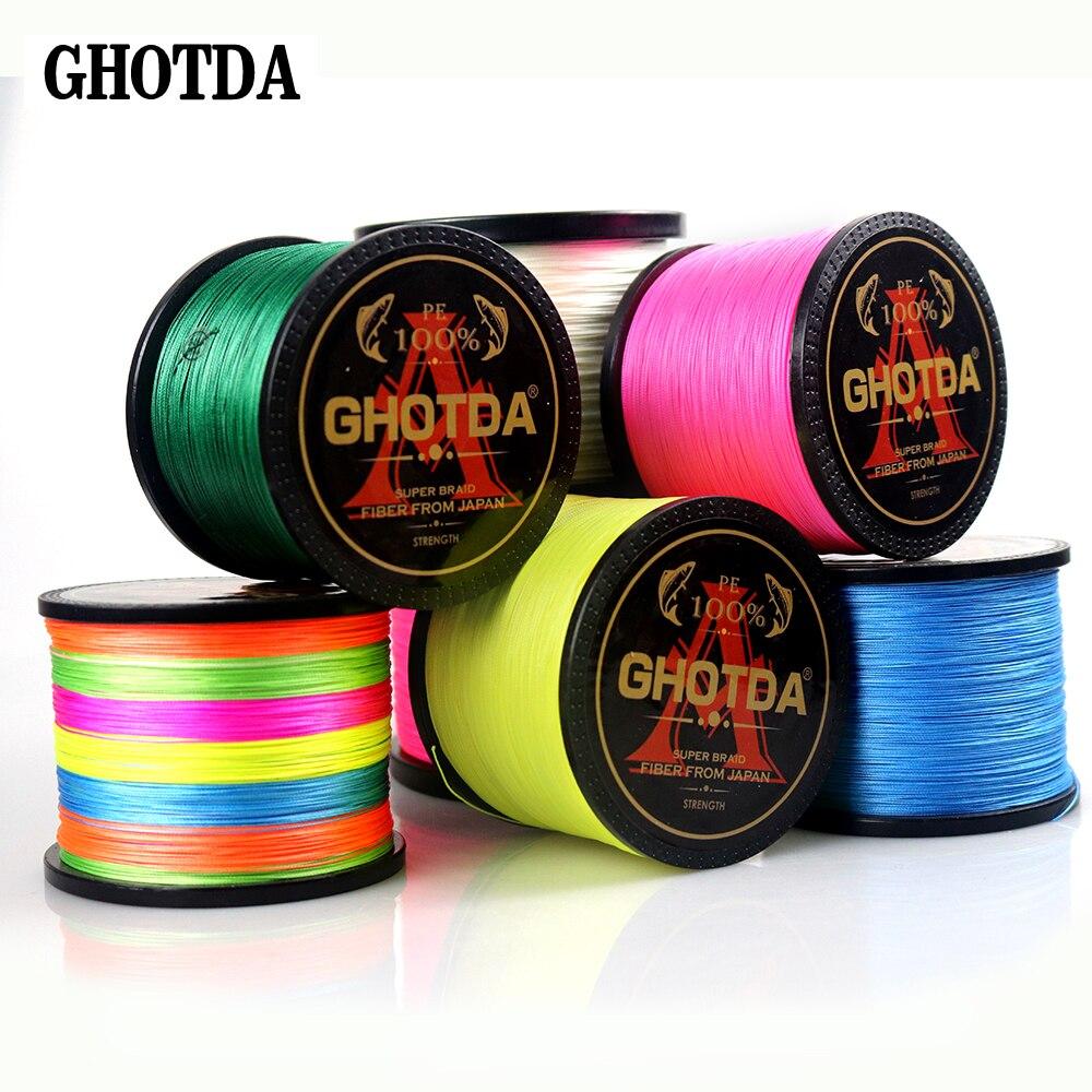 GHOTDA 8 нитей 1000 м 500 м 300 м PE плетеная леска tresse peche соленая рыболовная ткать Улучшенный Экстремальный супер сильный