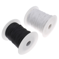 2mm 100Yards Waxed Thread Cotton Cord Plastic Spool String Strap Necklace Rope Bead For Necklace Bracelet
