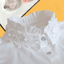 Vintage Womens Fake Collar Shirt 2019 Ladies Lace White Women False Detachable Nep Kraagie