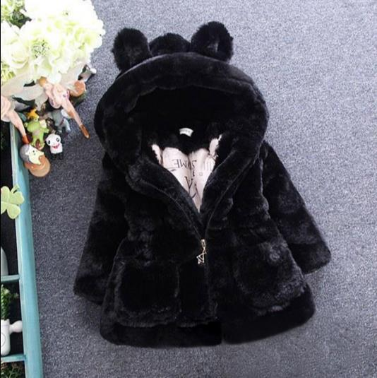 ecb944816 2018 Winter Baby Girls Faux Fur Fleece Coat Party Pageant Warm ...