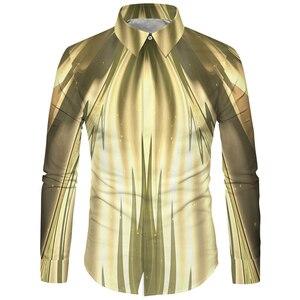 Image 2 - Cloudstyle 3d floral impresso homem camisa casual xadrez camisas hombre vestido camisas de casamento homme camisa manga longa magro ajuste camisas
