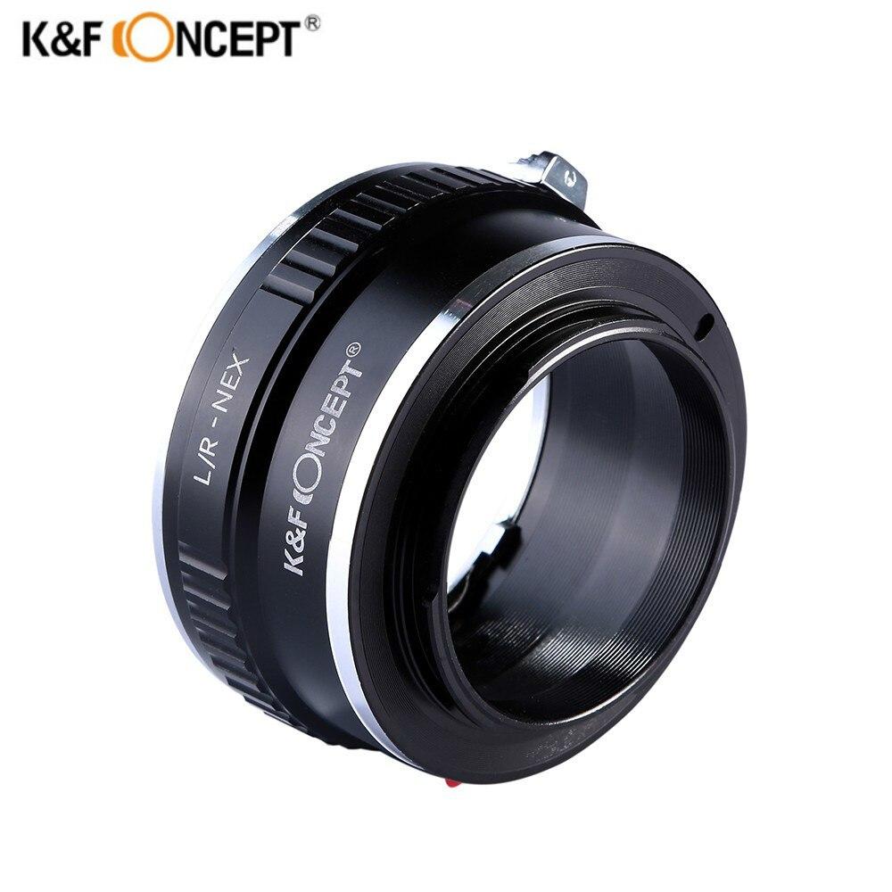 K & F concept Adaptadores para objetivos para Leica R lente a Sony e NEX Cuerpo adaptador /R-nex
