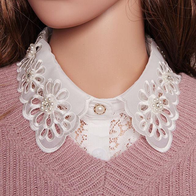 309fcc1628ea Faux-Faux-Col-chemise -femmes-amovible-Pull-col-Faux-Colliers-Vintage-Perle-Creux-Dentelle-Blanc -Blouse.jpg 640x640.jpg