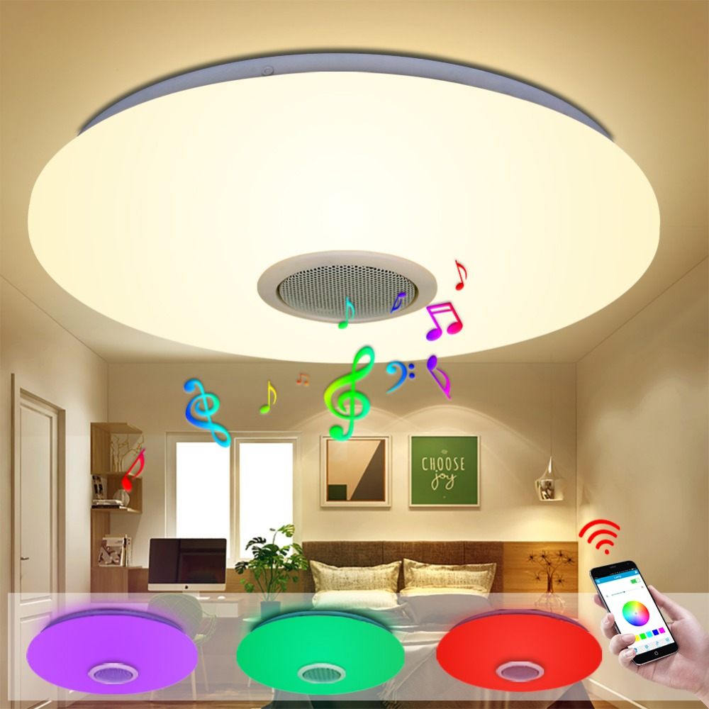 LED Ceiling Light Bluetooth and Music with colourful and dimmer RGB Ceiling Light Remote Control for living room and bedroom living with music