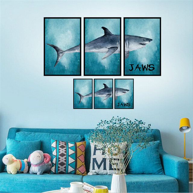 Aliexpresscom Buy Underwater Fish Shark D Wall Stickers For - Underwater wall decals