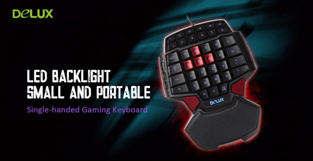 Delux T9U One Hand Gaming Keyboard (USB Wired)