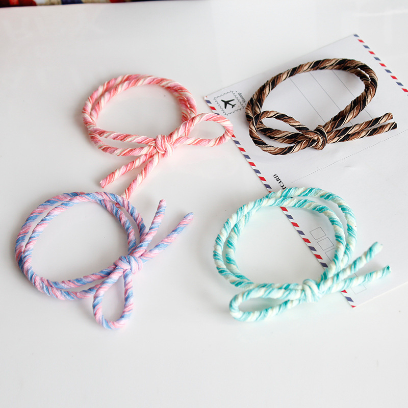 Han edition contracted knot hair ring hair rope South Korea's hair band Spread the rope a hair rope han edition of the new bankcard yarn rope ribbon hair with hair hoop hair tire wholesale