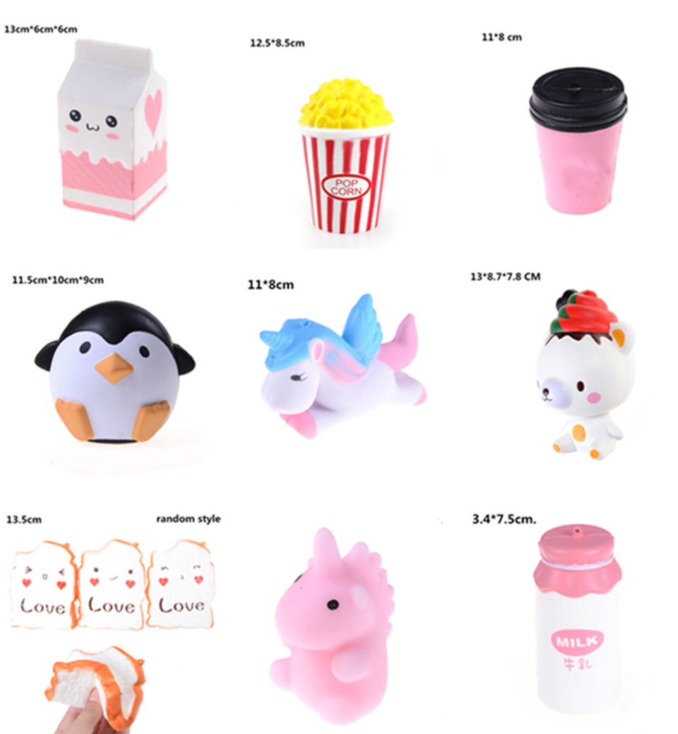 Novelty Squeeze Ice Cream Milk Box Squishy Charm Slow Rising Scented Kawaii Simulation Food Anti-stress Toy For Kid Adult Toy