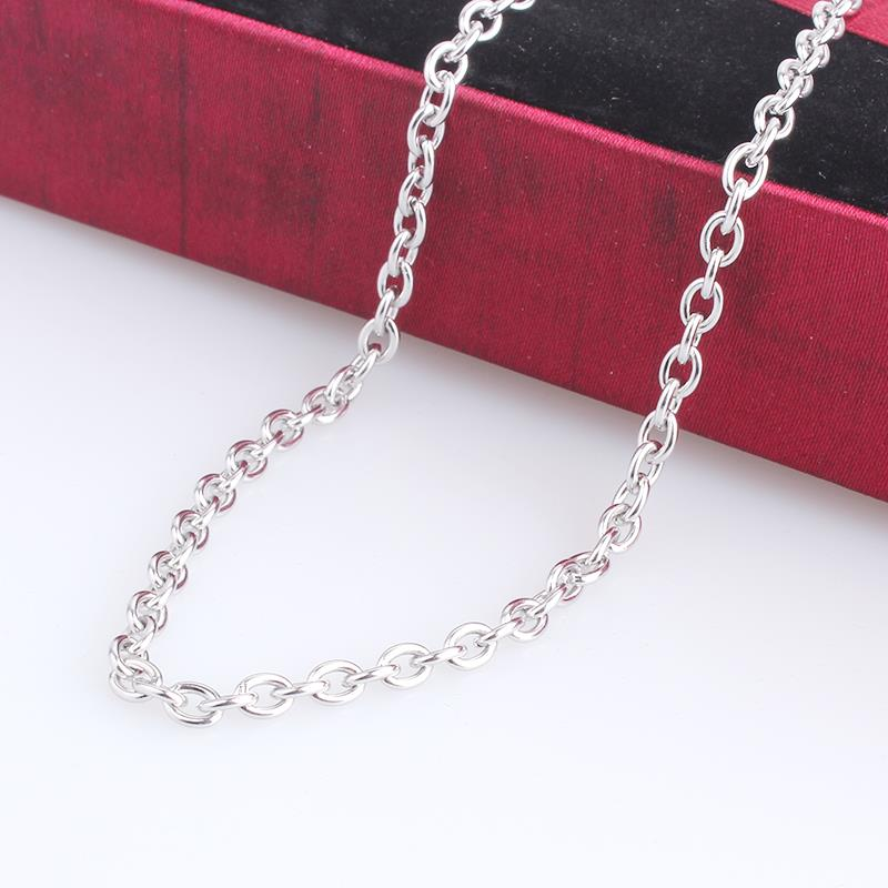 free shipping 3.5mm width 0 word chains length 50cm 316L Stainless steel Necklace for men jewelry wholesale