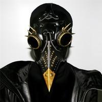 YeBmin 2017 New Steampunk Plague Bird Beak Mask Doctor Mask Fancy Violent Cosplay PU Leather Halloween