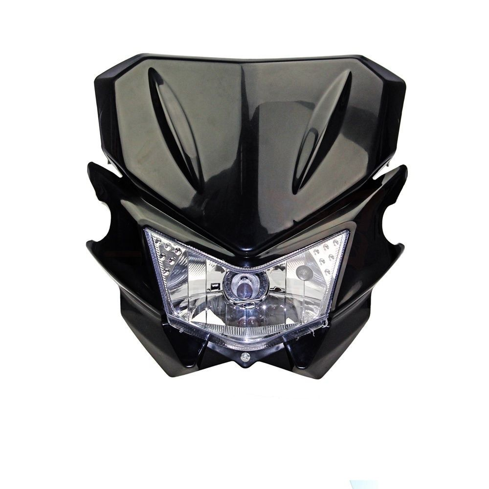 Universal Motorcycle Street Fighter Headlight Fairing Headlamp For Honda CR 125R 250R CRF 100F 150F XL250 Supermoto Enduro 270mm front brake disc rotor for cr 125 250 500 crf 250r 250x 450x 450r 230f motocross supermoto enduro dirt bike off road