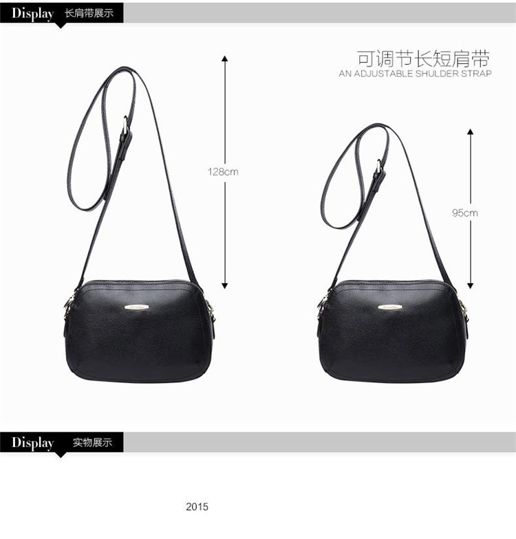 New 2015 Fashion Women Genuine Leather Messenger Bag Shoulder Bags Crossbody  Bolsos Carteras Mujer Marca Handbags Famous Brands08