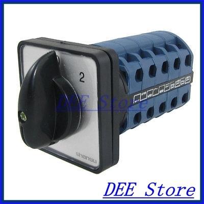 AC 440V 240V 20 Screw Terminals 3 Position Rotary Cam Changeover Switch ac 380v 3kw ui 380v ith 10a 3 position rotary cam changeover switch