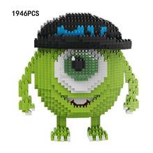 hot lepining creators Classic US cartoon Monsters Mr. Q Michael Mike micro diamond building blocks model bricks toys for gift