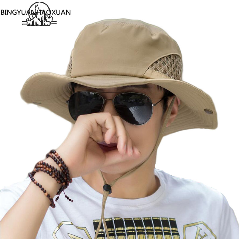BINGYUANHAOXUAN Men's Summer & Spring Fashion Fisherman Hat Casual Western Travel New Fashion