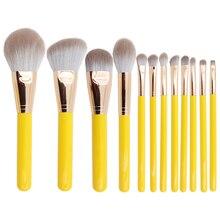 BBL 12pcs Professional Soft Yellow Makeup Brushes Set Foundation Powder Shading Brush Full Function Cosmetic Tools Kit