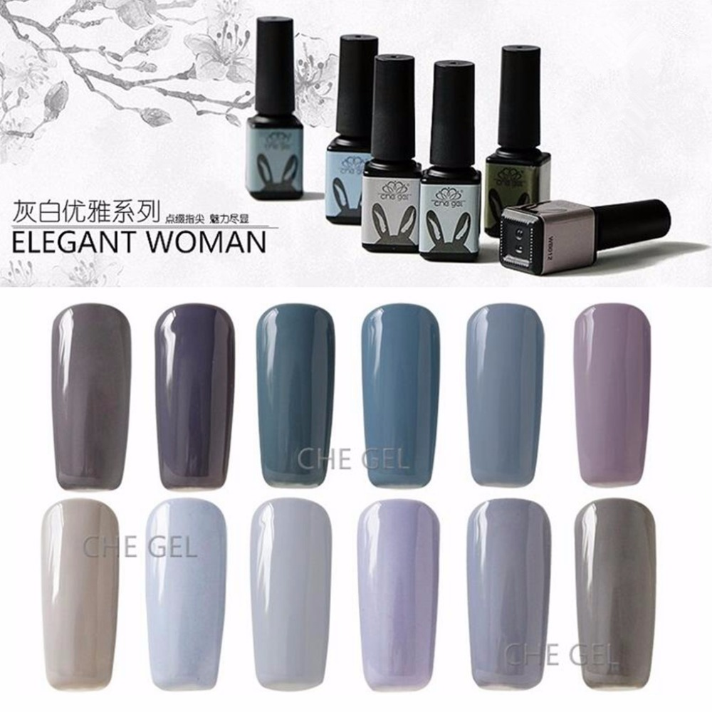 12 Colors 5g Uv Led Nail Polish Gel Nail Art Design Long Lasting