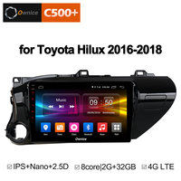 Ownice C500+ G10 10.1 inch Octa 8 Core Android 8.1 car for TOYOTA Hilux 2016 2018 DVD PLAYER Multimedia Navigation GPS AUDIO