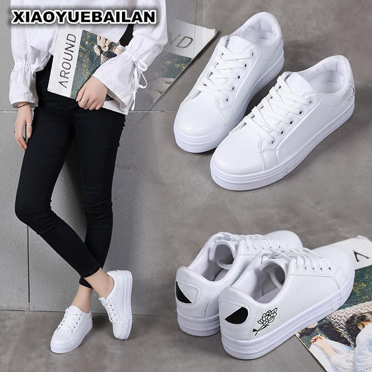 2017 New  Autumn And Winter New Single Shoes Low Hand Fashion Casual Round Small White Shoes 2017 new autumn