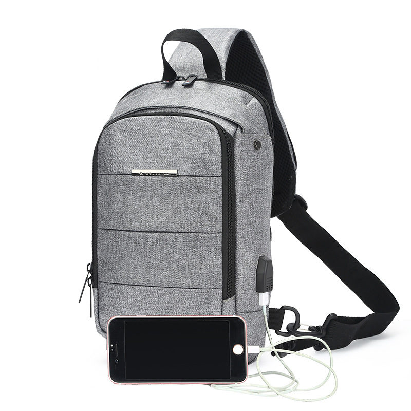 OZUKO New Male Chest Bag Waterproof Oxford USB Charge Crossbody Bags Men Anti theft Chest Bag Summer Short Trip Messengers Bag гладильная доска великие реки ровная 1 page 8