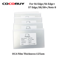 Free Shipping 50pcs/lot OCA Optical Clear Adhesive Double-side Sticker for S6edge plus s8 s8plus note 8 Novecel Thickness:125um