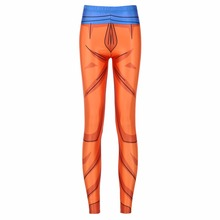 Girl Dragon Ball Z Super Compression Pants Cosplay Printed