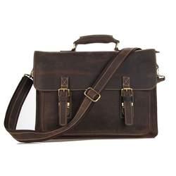Nesitu высокое качество Винтаж натуральная Crazy Horse кожа Портфели портфель Для мужчин Курьерские сумки Сумка для ноутбука # m7205r