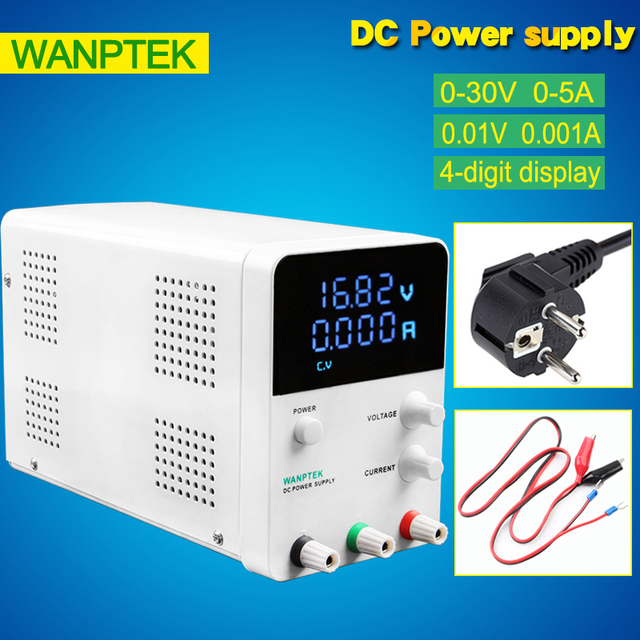 Factory Sale 30V 5A Adjustable laboratory Power Supply Professional switching DC power supply 4 digits display 220V 0.01V 0.001A