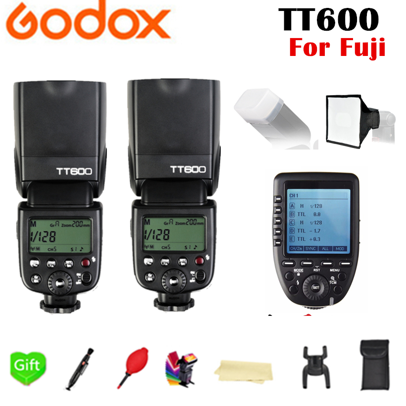 2X Godox TT600 TT600S 2.4G Wireless X System TTL 1/8000s Flash Speedlite + Xpro-F Transmitter Trigger For Fujifilm Fuji Camera2X Godox TT600 TT600S 2.4G Wireless X System TTL 1/8000s Flash Speedlite + Xpro-F Transmitter Trigger For Fujifilm Fuji Camera